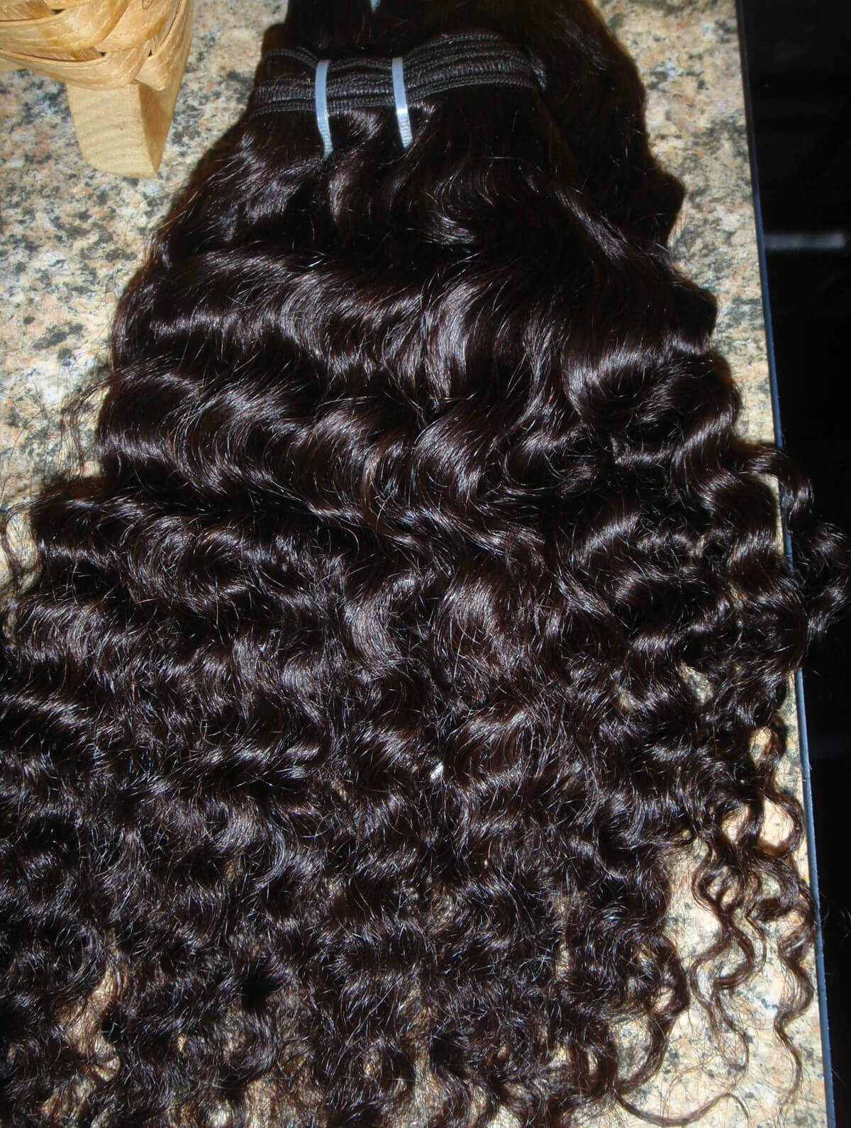 Loose Curly Hair From The Back