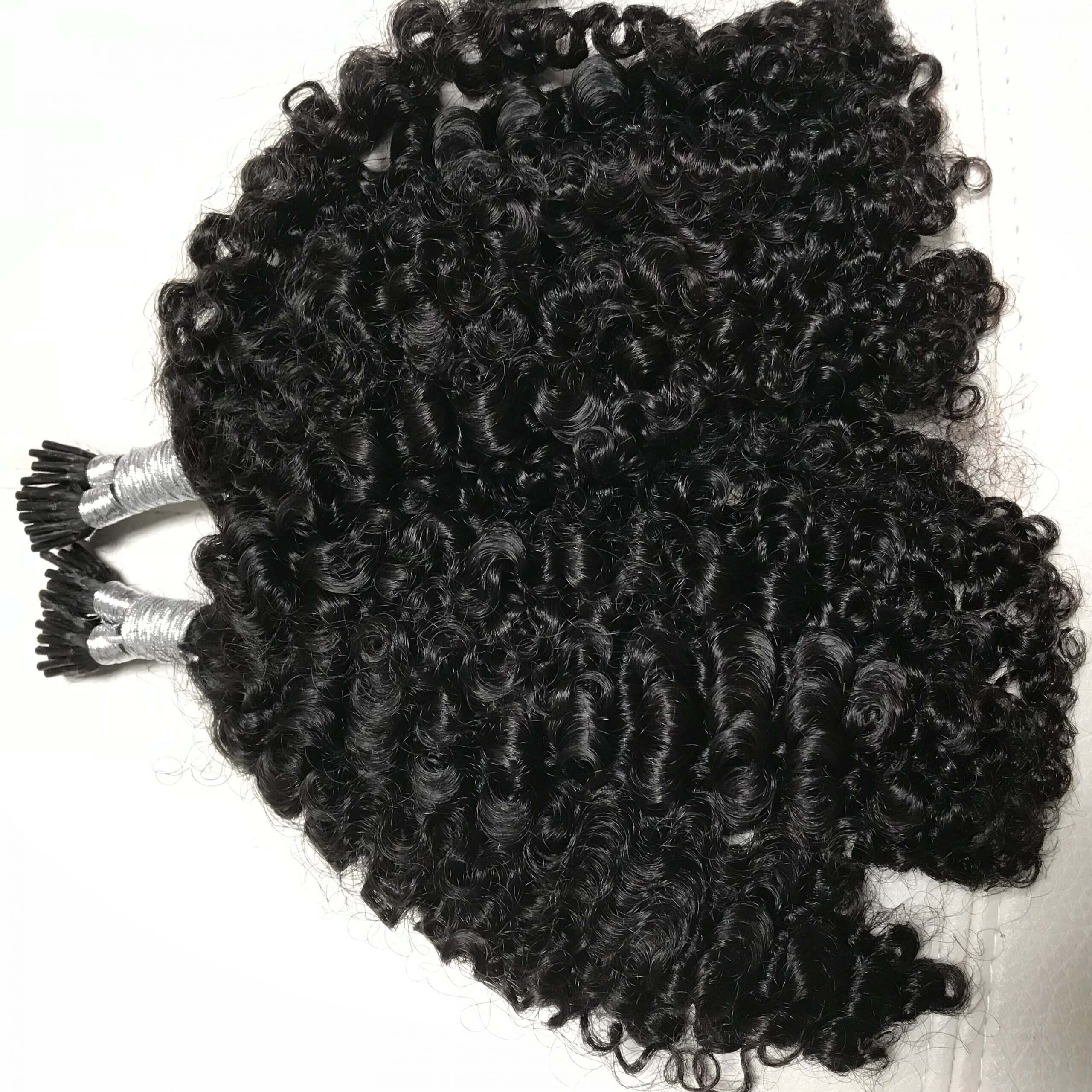 Mongolian Kinky Curly I Tip Microlinks Natural Hair Extensions Remy Mercy S Hair Extensions
